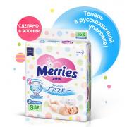Подгузники MERRIES для детей размер S 4-8 кг, 82 шт