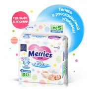 Подгузники MERRIES для детей размер S 4-8 кг, 24 шт