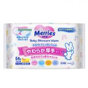 Детские влажные салфетки MERRIES Запасной блок 54 шт