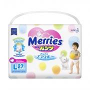 MERRIES Трусики-подгузники для детей размер L 9-14 кг 27 шт