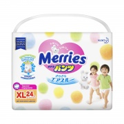 MERRIES Трусики-подгузники для детей размер XL 12-22 кг 24 шт
