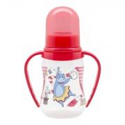 Бутылочка для кормления с силиконовой молочной соской Just Lubby и ручками, от 0 мес., 125 мл.