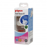 Бутылочка для кормления Pigeon SofTouch Peristaltic PLUS, 0+ мес. 160 мл.